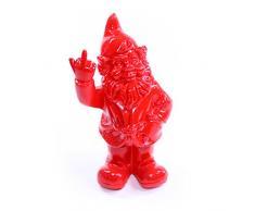Nano da giardino, decorazione – Statuetta in resina frecher Nano da giardino mostra dito medio per casa e giardino, rosso – circa 6 cm x 4 cm x 10 cm