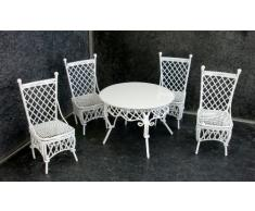 Sedie E Tavoli In Ferro Per Giardino.Tavolo E Sedie In Ferro Battuto Bianco Tavoli E Sedie Da Giardino