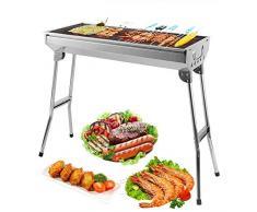 Uten Barbecue Griglia a Carbone Professionale per 5 - 10 Persone, Utensile BBQ Grill Barbecue Carbone Pieghevole per Picnic con gli Amici, Riunione di Famiglia in Balcone e Giardino, Campeggio ecc
