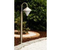 Nuovo Lampioncino da esterno Acciaio inox e plastica bianca Design moderno