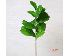 XIANNV 122cm Grandi Artificiale Ficus Albero Ramo Verde Piante di Palma Tropicale Foglie Arbusto Faux Gomma Albero Decorazione della Casa (Color : 105cm)
