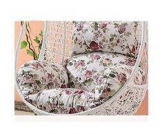 SQINAA Uovo di appendere amaca sedia cuscini senza stand,Altalena nido spessore cuscino di seduta sedia indietro con il cuscino d'attaccatura-F