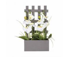 Orchidee artificiali in vaso, in legno, altezza 41 cm