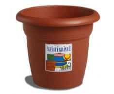 Stefanplast Vaso Plastica Tondo Colore Coccio Diametro 26