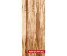 Teak Wood mantiburi 90 x 210 cm - autoadesive in formato Premium - facile da applicare senza pellicola BOLLE - di alta qualità pellicola in vinile con punto opaca colla per tutte le porte e mobili con superficie liscia - carta