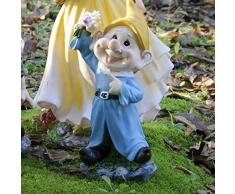 VERDELOOK Statua Nano da Giardino in poliresina, Robusta e Durevole nel Tempo