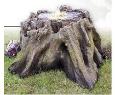 Tronco d' albero Fontana zen