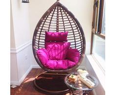 BLSTY Allaperto Poltrona Pensile Cuscino Sedia, Traspirabile Ergonomico Cuscini Schiena per Hanging Egg Chair Amaca Cesto Appeso Cuscino de Sedile-B-120x122cm(47x48pollice)