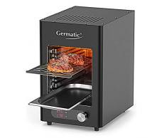 Cepewa GERMATIC Bull Burner elettrico 350-850 gradi, per interni ed esterni, giardino, cucina, balcone, BBQ