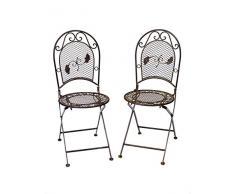 Da giardino 2x per 9kg sedia in ferro battuto sedia pieghevole stile antico