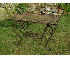 Tavolo da giardino Nostalgia battuto tavolo in ferro 12kg Loungetisch marrone