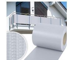 huigou HG visione protezione Strip Bar Matte recinzione strisce PVC diversi modelli per il giardino recinto o balcone (35Meter, Grau)