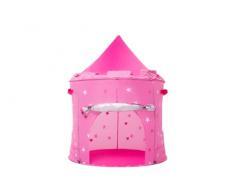 Kiddus Tenda Casette casa da Gioco Bambini Bimbi, Castello delle Principesse, Piegatura Pop up, Rosa per Le Ragazze, Interni ed Esterni (Rosa)