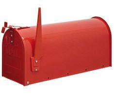 Domus USA/R Cassetta Postale Stile USA, Acciaio Verniciato, Rosso