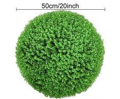 LACKINGONE - Grande pianta Artificiale in Legno di bosso Verde per Giardino da Appendere, 50 cm