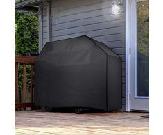 GZHENH-Copertura Mobili Giardino Telone Resistente allo Strappo Griglia for Barbecue Protezione Protezione della Neve Anti età Balcone, 5 Taglie (Color : Black, Size : 145x61x117cm)