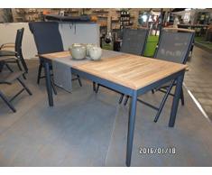 Tavolo da giardino Monza rettangolare in teak Telaio in alluminio con pannello in legno 150 x 89 x 75,5 cm