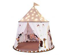 Tenda per bambini Playhouse, Teepee Tende da gioco per bambini pieghevoli leggere e portatili, per ragazze Casa per bambini, cortile, parchi, feste, con custodia (bianca)