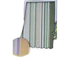R.P. Tenda da Sole per Esterno in Tessuto multirighe con Anelli per Balcone, terrazzo, casa - Cm 150x250 - Verde