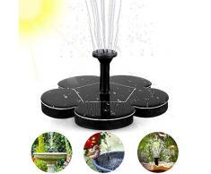 woopus - Fontana a energia Solare, Pompa per laghetto, Pompa per Esterni, Pompa dell'Acqua con 1,4 W, Pannello Solare monocristallino, Fontana per laghetti da Giardino, o fontane a zampillo