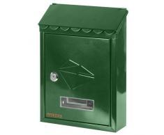 MAURER Cassetta postale in acciaio verniciato verde con tetto