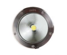 Faretto LED Segnapasso Segnapassi Calpestabile Esterno IP65 20W Luce Bianco Caldo 3000°K, elettrico