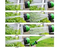Tubo flessibile da giardino flessibile, Vaxiuja Giardino Doccia a mano Giardino Tubo da irrigazione Tubo da irrigazione Estensibile 30m 100 FTTubo flessibile Tubo flessibile da giardino con 7 funzioni