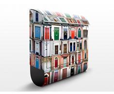 Cassetta postale design 100 Doors 39x46x13cm, Größe:46cm x 39cm