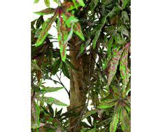 Acero palmato decorativo con 1615 foglie, verde-rosso, 220 cm, per esterno - Pianta artificiale / Pianta acero - artplants