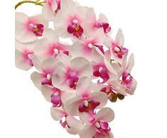 Aisamco 2 Pezzi steli Orchidea Artificiale Real Touch Orchid 28 Pollici Alto Falso phalaenopsis Fiore Fiore Artificiale per la casa Festa Nuziale Decorazione Floreale