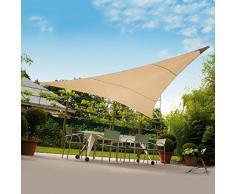 VERDELOOK Tenda ombreggiante Vela Triangolare Ecrù 3x3x3mt Ombra Giardino capeggio