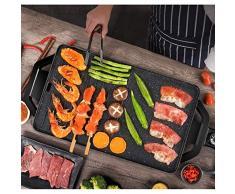 Interno Griglia da Tavolo Elettrico Barbecue Teppanyaki Piastra 5 Porzioni Piatto Caldo Senza Fumo Anti-Aderente BBQ Coreano per Giardino Balcone Temperatura Regolabile 1800w