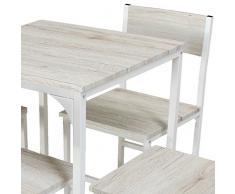 YELLOO Set Tavolo Bar con 4 Sedie Beige Cucina Tavolino Mobili MOD. Portofino