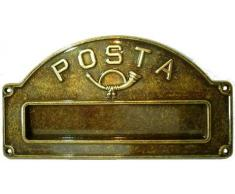 Buca Lettere Cassetta Postale Posta in ottone brunito esterno