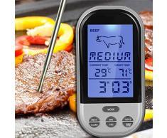 XCSOURCE Termometro digitale a distanza Per alimento della cucina di programmabile senza fili di cottura Forno a base di carne barbecue BI 150