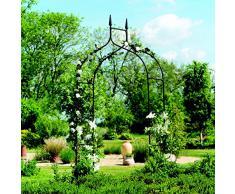 Gardman - Deluxe, Arco da giardino in stile gotico, 2,95 x 1,4 m, colore: Nero
