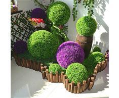 Yunhigh pianta artificiale palla decorativo bosso simulazione erba palla di plastica verde globo verde per il centro commerciale di nozze natale decorazioni per la casa (2pcs, 22cm)