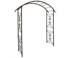 Louis Moulin 3289920030268 - Arco tubolare quadrato per piante rampicanti, in ferro anticato, 180 x 50 x 250 cm