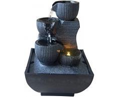 Zen Light Kini - Fontana da Interno con Pompa e Illuminazione LED, in Resina, Taglia Unica
