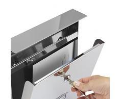 Cassetta per la posta postale in acciaio, modello S-23