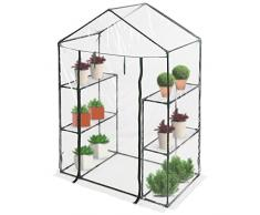 Jago Serra giardino fiori piante serra da giardino ca. 143,5/72/198 cm