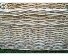 Cesto di legno, cesto portaoggetti camino Cestino, Cestino in rattan GR. 1 Natura