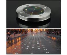 4 Pezzi Luce Sepolta Solare 4 LED 100LM Geediar lampade Solari da Esterni Wireless Impermeabile Luci Solari da Giardino per Esterno,Scala,Paesaggio,Strade Colori Bianco Caldo (Larghezza 12 cm)