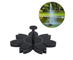 Eventualx - Fontana a zampillo a energia Solare, a Risparmio energetico, Ecologica, Multifunzione, Facile da installare, ad Alta conversione, per Acquario, Piscina, terrazza