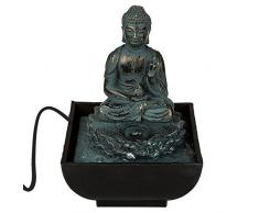 Out of the blue Tavolo Fontana, Sitting Buddha, Poliresina, Multicolore, 17 x 14 cm