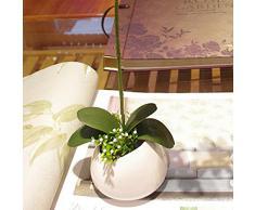 1 Ramo Simulazione Foglia Artificiale Farfalla Orchidea Verde Decorazione Domestico Erba