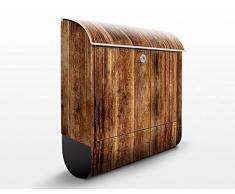 Cassetta postale design I Wooden Hut 39x46x13cm, Größe:46cm x 39cm