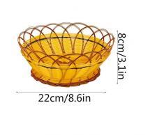 NMDCDH Cesto di Frutta Rotondo Polyrattan Tessuto Cesto di Frutta Grande capacità Cestino di stoccaggio da Cucina Dessert di Frutta Soggiorno Caramella Scatola di immagazzinaggio 22 * 8 cm 24 * 1