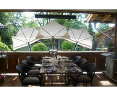 STABIELO - balcone - per sedia - ombrellone Holly 'mat ® - scomparti paralume rosso - con Holly® 5 volte in un raggio di regolabile 360 ° MULTI - supporto GVC (35 EUR) - per fissaggio di rotonda o quadrata elementi