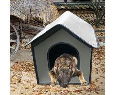 Cuccia per cani, Cuccia per gatti, Cuccia per cani impermeabile, Cuccia per animali da compagnia resistente alle intemperie, Cuccia per cuccioli per interni e esterni, Riparo per animali domestici
